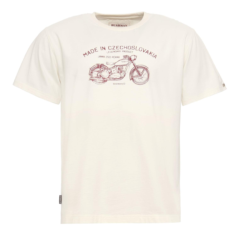 BUSHMAN tričko BOBSTOCK cream s potiskem pérák.